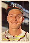 1957 Topps Chuck Tanner Milwaukee Braves #392 Baseball Card