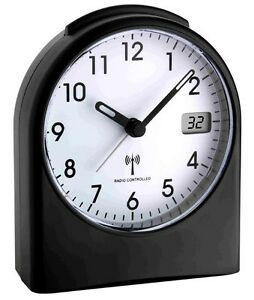 Radio-reveil-TFA-98-1040-01-NOIR-SILENCIEUX-sans-sekundenticken-montre-radio