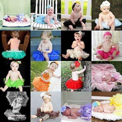 OPTIONAL Single Color Newborn Baby Pettiskirt Skirt Petti Tutu Dress Girl NB-12m