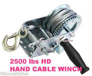 Heavy-Duty-2500LB-Boat-Hand-Winch-Hand-Crank-Manual-RV-Trailer-Winch-AUTO-MARIN