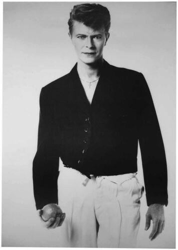 DAVID BOWIE in monochrome Scarce vintage original 1986 Poster 59x42cm