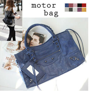 Celebrity-Style-Motorcycle-Handbag-Midium-Classic-Tote-Shoppers-Shoulder-Bag-New