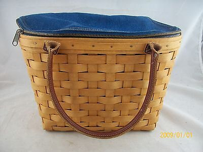 Longaberger 2005 Medium Boardwalk Basket Combo