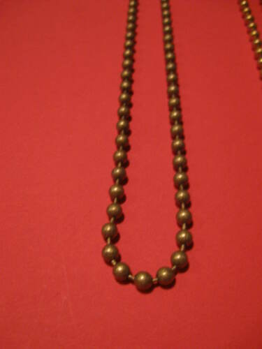 gray Drop  3 Continuous Plastic Bead Chain Loop