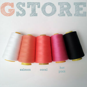 1-Industrial-commercial-Polyester-Sewing-Thread-Serger-Spool-Cone-COLORS