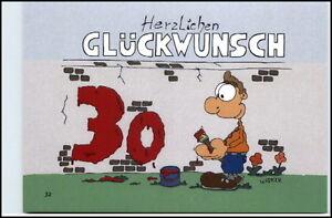 ... Glueckwunsch 30 GEBURTSTAG  Karikatur Karrich Postkarte Ungelaufen Postcard