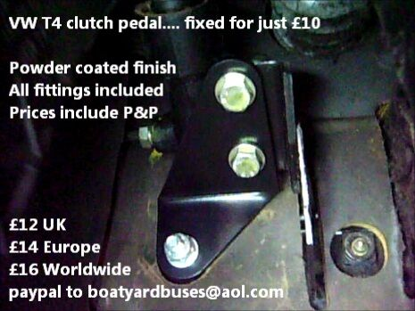 VW Vdub T4 Transporter Caravelle Multivan Bus - Clutch pedal repair bracket kit