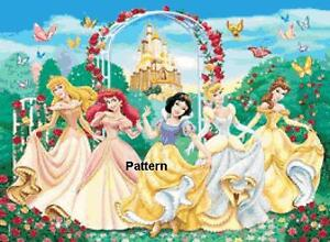 Disney-Princess-4-Cross-Stitch-Pattern-Paper-version-or-PDF-files
