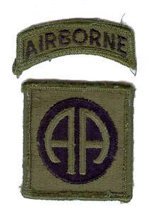 82nd Airborne Division - écusson mle 1966 subdued - tenue de combat - US Army - France - Type: Insigne, Décoration Pays, Organisation: Etats-Unis Sous-type: Insigne, Badge Période: Guerre du Vietnam Service: Forces spéciales - France