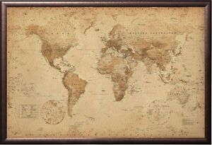 image is loading world map antique style poster print in premium