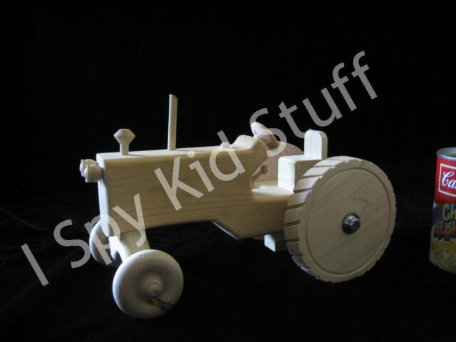 NATURAL AMISH Handmade Wood Wooden Toy Farm Tractor for KIDS Toy Tractors *FUN*