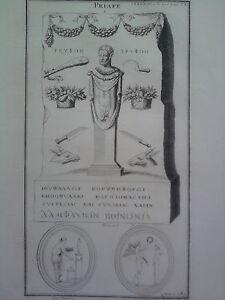 GRAVURE-ANCIENNE-D-039-EPOQUE-PRIAPE-BOISSARD-FORMAT-25-5-x-40-5-cm