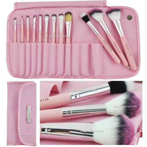 12 pcs Makeup Brush Set (Kawaii Pink) & BF Eyebrow Pencil Lip Liner Gift #306U
