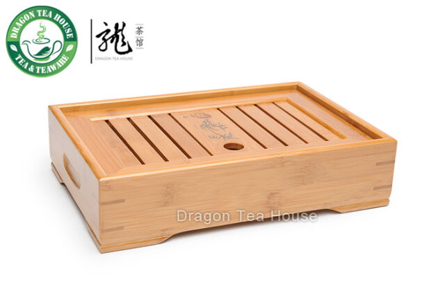 Slatted Box * Tea Serving Bamboo Tray 28*19cm XH-008 S