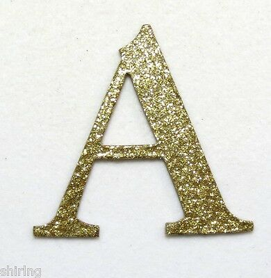 "2"", 4"" Custom Glitter Chipboard Alphabet Letters numbers 30 Colors sticker avail"