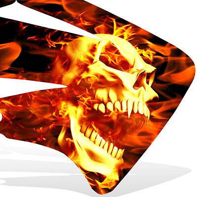 1996-2000 SUZUKI RM125 250 Graphics KIt Decal Mx Sticker GHOST RIDER flame skull