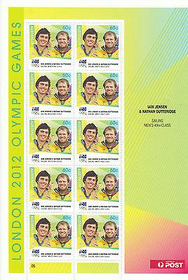 Australia 2012 MNH London Olympic Games 10v Sheet Iain Jensen Nathan Outerridge