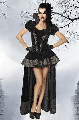 ATX Sexy Damen Vampir Kostüm Gothic Fledermaus Halloween 34 36 38 40 42 44 46