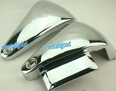 Classic Chrome Metal Battery Side Covers For Vulcan VN800A / VN800 Kawasaki EE