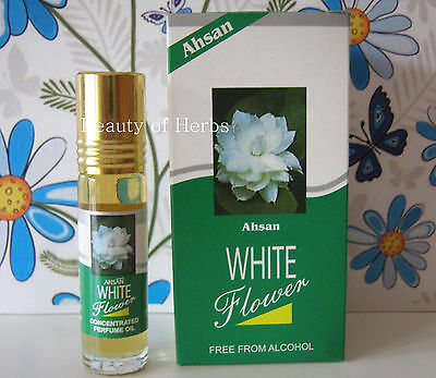 White Flower Mogra 8 ml Concentrated Perfume Roll On by AHSAN (Alcohol Free)