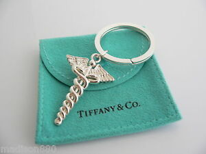 4dc0ff7e7 Image is loading Tiffany-amp-Co-Silver-Medical-Doctor-Caduceus-Key-
