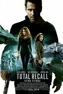 TOTAL-RECALL-DOUBLE-SIDED-MOVIE-POSTER-69x102cm-Jessica-Biel-Kate-Beckinsale