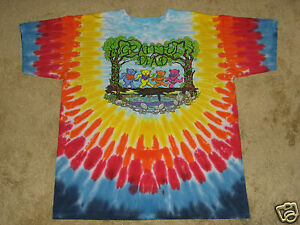 Grateful-Dead-Wood-Bears-S-M-L-XL-2XL-3XL-4XL-5XL-Tie-Dye-T-Shirt