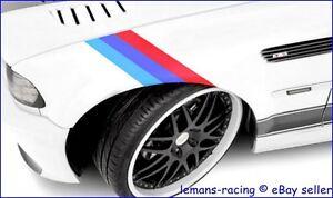 M-Sport-BMW-20mm-3-Color-Stripes-Decals-M3-M5-Z4-E30-E36-E39-E46-E70-E71-E90