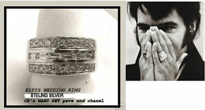 ELVIS-1967-GRACELAND-WEDDING-BAND-RING-SILVER-CZ-CUSTOM-MADE