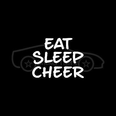 EAT SLEEP CHEER Sticker cute vinyl Decal cheerleader gift girl wall car decor