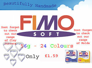 FIMO-Soft-56g-Polymer-Clay-24-Colours-5cm-x-5cm-Modelling-Jewellery-Craft-Art