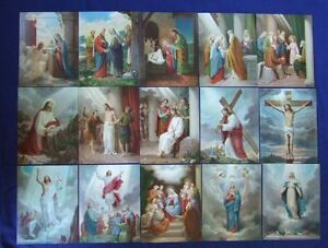 15-MYSTERIES-of-the-ROSARY-Catholic-Pictures-Print-8x10-034-from-Italy