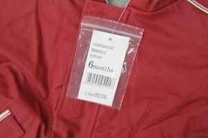 JACADI Boy/'s Resolu Ruby Red Oilskin Raincoat Size 6 Months NWT $92
