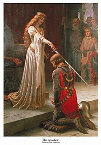 The ACCOLADE by E.B. Leighton. Fine Art Reproduction Poster Print