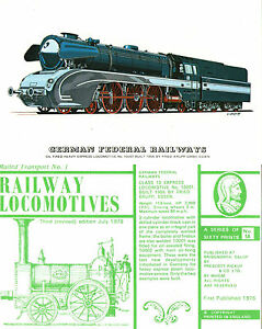 GERMAN-FEDERAL-RAILWAYS-No-10001-EXPRESS-LOCOMOTIVE-POSTCARD-BY-PRESCOTT-PICKUP