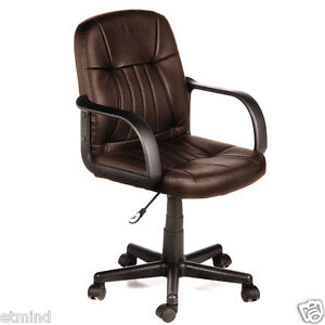 New Brown Executive fice Leather puter Desk Chair