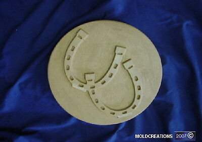 ROUND HORSESHOES CONCRETE PLASTER STEPPING STONE  MOLD 1189 Moldcreations