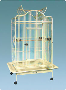Everila-Large-Bird-Parrot-Cage-Open-Top-32-034-Lx24-034-Wx61-034-H-African-Grey-Macaw-Amazon
