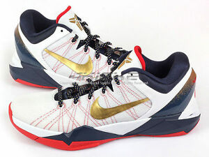 Image is loading Nike-Zoom-Kobe-7-VII-System-Gold-Medal-