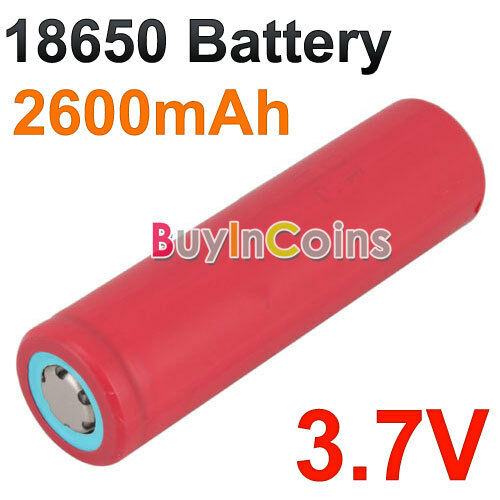 New Sanyo Li-lion 3.7V 18650 18650 Rechargeable Battery 2600mAh Red