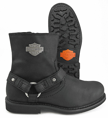 HARLEY DAVIDSON SCOUT BOOT VINTAGE BLACK LEATHER MOTORCYCLE BOOT MEDIUM WIDTH