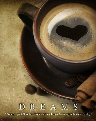 Coffee Shop Motivational Poster Art Print Beans Maker Grinder Espresso  MVP220