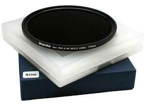 Haida-PRO-II-PROII-MC-Neutral-Density-Filter-ND-3-0-SLIM-10-Stop-77mm-77-mm