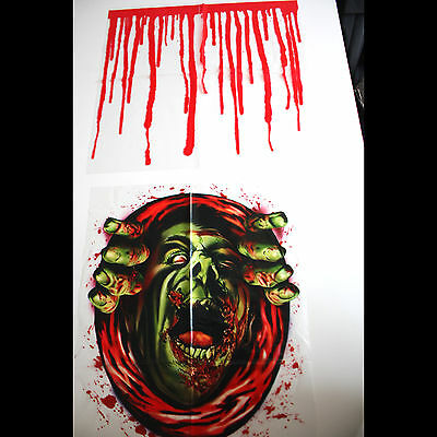 Haunted House Blood Monster-ZOMBIE GHOUL TOILET COVER-Halloween Party Decoration