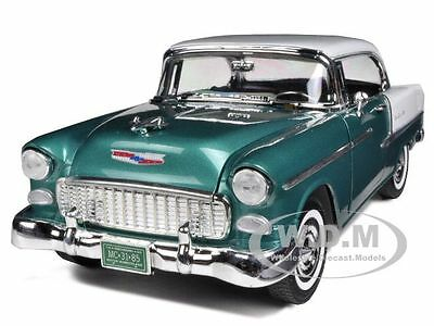 1955 CHEVROLET BEL AIR HARD TOP GREEN 1/18 DIECAST CAR MODEL BY MOTORMAX 73185