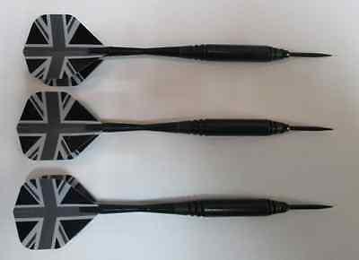 Pure Shot 21g British Steel Tip Darts  flights shafts tips case