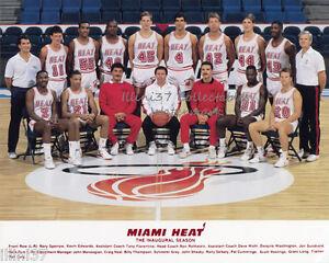 1988-89 MIAMI HEAT INAUGURAL FIRST TEAM NBA BASKETBALL ...
