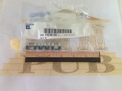 Chevrolet Equinox Traverse Chrome Liftgate AWD NAMEPLATE Emblem new OEM 15239124