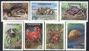 Tanzania 1994 Mi 1923-29 BL 269 ** Kraby Crabs Pets Animals Pets Tiere Zwierzęta -  Dabrowa, Polska - Tanzania 1994 Mi 1923-29 BL 269 ** Kraby Crabs Pets Animals Pets Tiere Zwierzęta -  Dabrowa, Polska