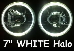 Holden-HQ-HJ-HR-HX-HZ-EH-Torana-LJ-Gemini-White-LED-Halo-7-Round-Headlights
